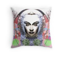 Spring Moon, Expressionism Digigraph by L. R. Emerson II Throw Pillow