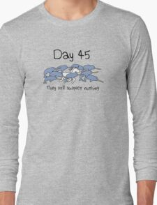 Day 45. They still suspect nothing (Narwhals + Unicorn) Long Sleeve T-Shirt