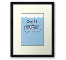 Day 45. They still suspect nothing (Narwhals + Unicorn) Framed Print