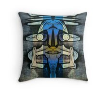 Soaring Down, Upside-Down Art, Masg Art By L. R. Emerson II Throw Pillow