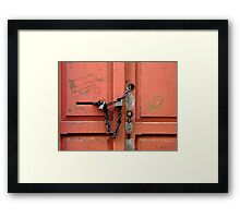 """I'll be back in a minute..."" Framed Print"