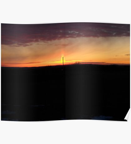 Topeka Sunset Poster