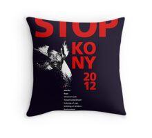 STOP KONY 2012 Throw Pillow