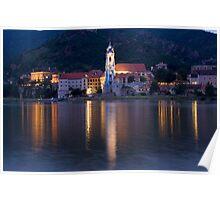 Durnstein Stiftskirche Wachau Austria Poster