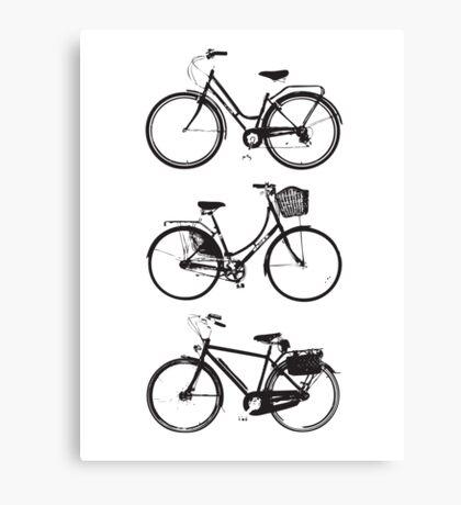Three Bicycles Canvas Print