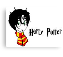 Harry Potter in cartoon Canvas Print