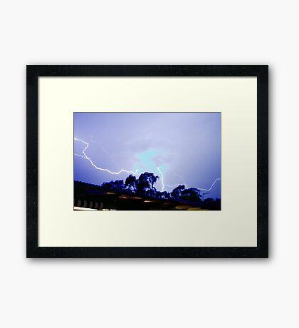 Blue Plasma Overhead Framed Print