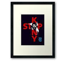 STOP KONY.3 2012 Framed Print