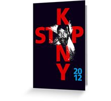 STOP KONY.3 2012 Greeting Card