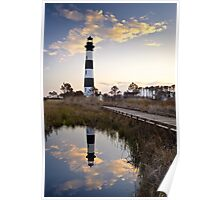 Bodie Island Lighthouse - Cape Hatteras Outer Banks NC Poster