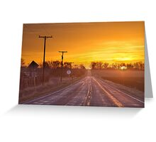 Back Country Road Sunrise  Greeting Card