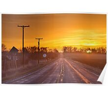 Back Country Road Sunrise  Poster