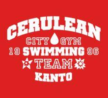 Cerulean Swimming Team Baby Tee