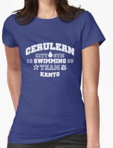 Cerulean Swimming Team Womens Fitted T-Shirt