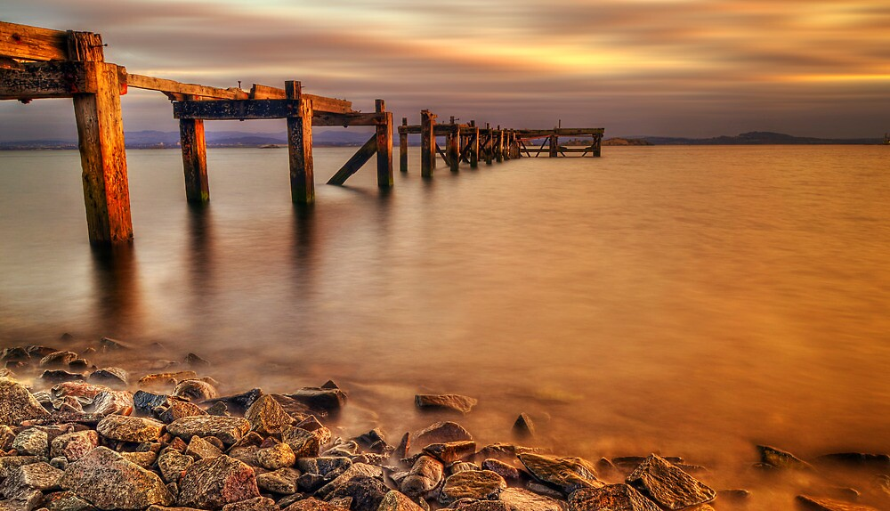 Aberdour Pier Sunset ( Please View Larger ) by Don Alexander Lumsden (Echo7)