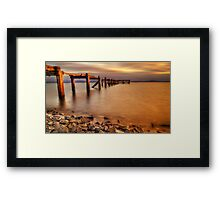 Aberdour Pier Sunset ( Please View Larger ) Framed Print