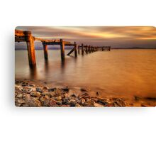Aberdour Pier Sunset ( Please View Larger ) Canvas Print