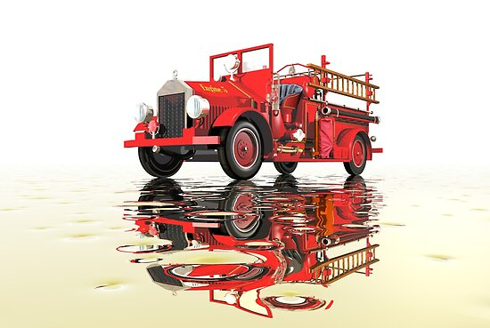 Antique Fire Engine with reflections by Carol and Mike Werner