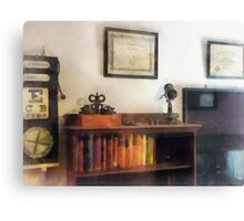 Eye Doctor's Office With Diploma Canvas Print