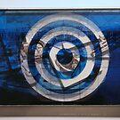 """Secret Postcards Blues - """"Bleu Méditerranée"""" #01 by Pascale Baud"""