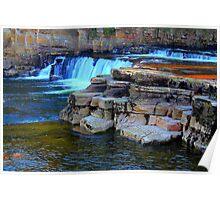 Waterfalls, River Swale, Richmond. Poster