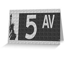 Fifth Avenue New York City Street Sign Deco Swing  Greeting Card