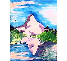 Matterhorn, watercolor Photographic Print