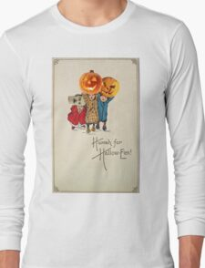 Kids With Decorations (Vintage Halloween Card) Long Sleeve T-Shirt