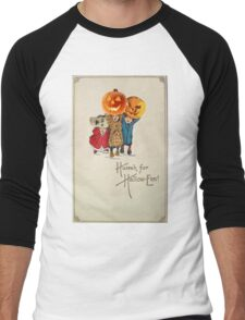 Kids With Decorations (Vintage Halloween Card) Men's Baseball ¾ T-Shirt