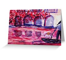 A canal in Venice, watercolor Greeting Card