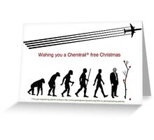wishing you a chemtrail free christmas Greeting Card