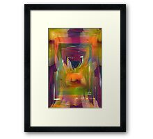 Abstract world of flowers Framed Print