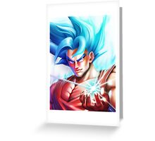 Goku Super Saiyan God 2 - New Dragon Ball Z Movie Resurrection of F Greeting Card