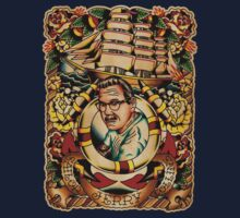 """Old Timers - Norman Collins """"Sailor Jerry"""" Kids Clothes"""