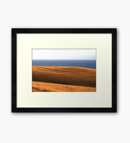 Bells Beach Hills Dusk Framed Print