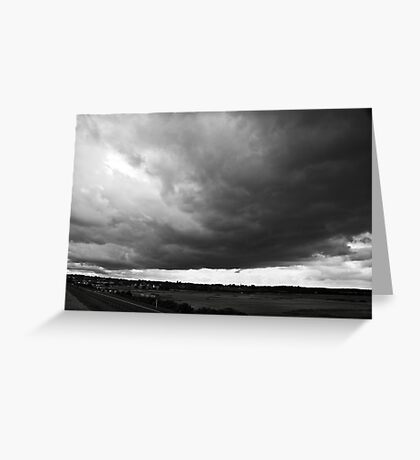 Stormy clouds above Wells-next-the-sea North Norfolk coast, United Kingdom Greeting Card