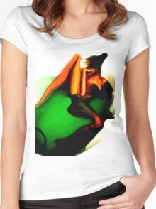 Bathing before me Women's Fitted Scoop T-Shirt