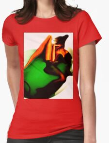 Bathing before me Womens Fitted T-Shirt