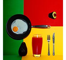 Psychedelic Breakfast Photographic Print