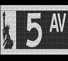 Fifth Avenue New York City Street Sign Deco Swing  by CecelyBloom
