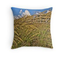 Sea Oats Coexisting with Us Throw Pillow