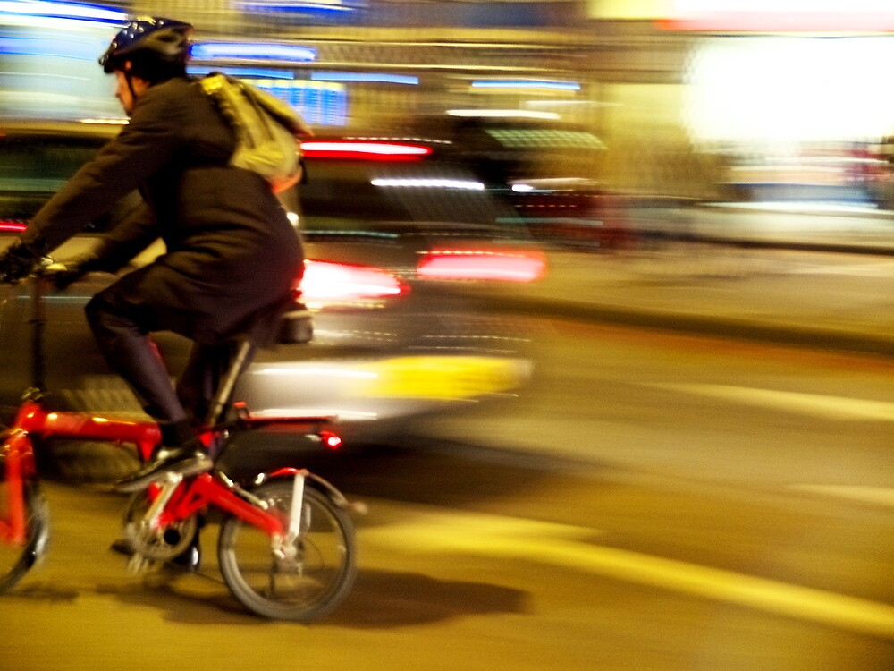 The Cyclist ( Blurred Series) by Sherion