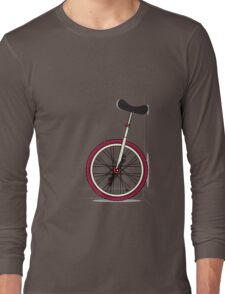 Unicycle By Wall Long Sleeve T-Shirt