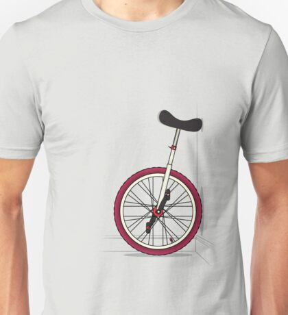 Unicycle By Wall Unisex T-Shirt