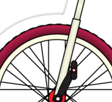 Unicycle By Wall Sticker