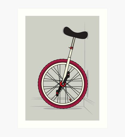 Unicycle By Wall Art Print