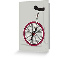 Unicycle By Wall Greeting Card