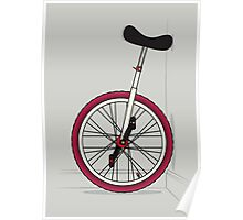 Unicycle By Wall Poster