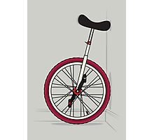 Unicycle By Wall Photographic Print
