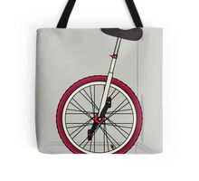 Unicycle By Wall Tote Bag